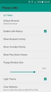 Popup Links screenshot 0