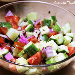Cucumber Tomato Onion Salad.
