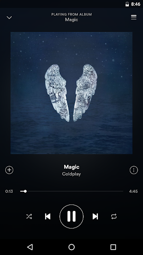 Screenshot 0 for Spotify's Android app'