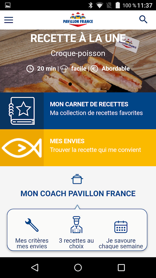 Le Coach Pavillon France – Capture d'écran