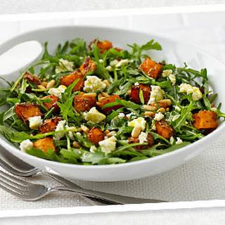 Pumpkin, Feta, Pine Nut and Rocket Salad