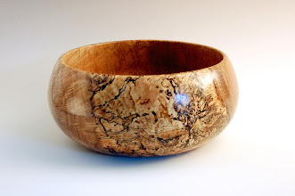 "Photo: Gene Adcock -- Spalted Oak Bowl with Traditional English    Profile -- 4.5"" X 10""     $ 800"