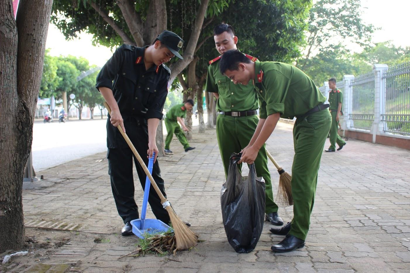 Trong lực lượng Công an Nghệ An, 'Chủ nhật xanh' đã được triển khai ở các đơn vị trong nhiều năm nay