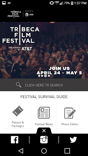 Tribeca Film Festival screenshot