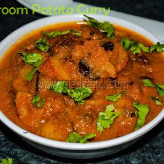 Mushroom Potato Curry.