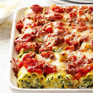Rolled Lasagna Florentine
