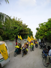 Photo: Anhenunge vehical buru kulhudhuffushi - International women's day protest 8/3/2012
