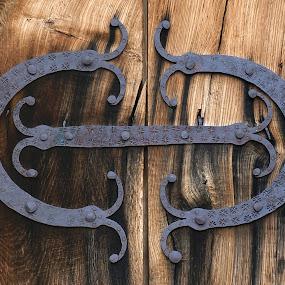Fittings by Sámuel Zalányi - Artistic Objects Antiques ( church, kisdisznód, heltau, romanic, cisnadioara, door, transylvania, medieval, iron, fitting,  )