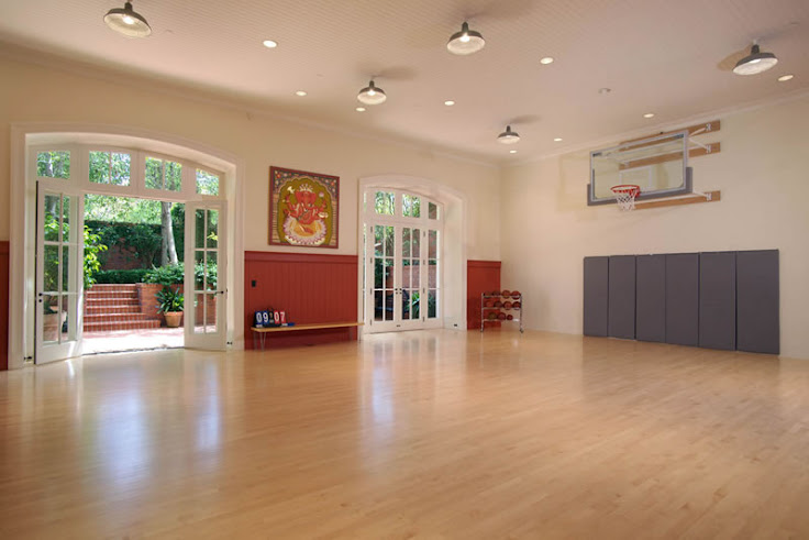 The basketball court and low ceilings inside 2701 Broadway.
