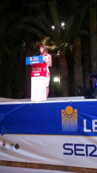 Habla Ángeles Martínez, vicepresidenta segunda de la Diputación de Almería