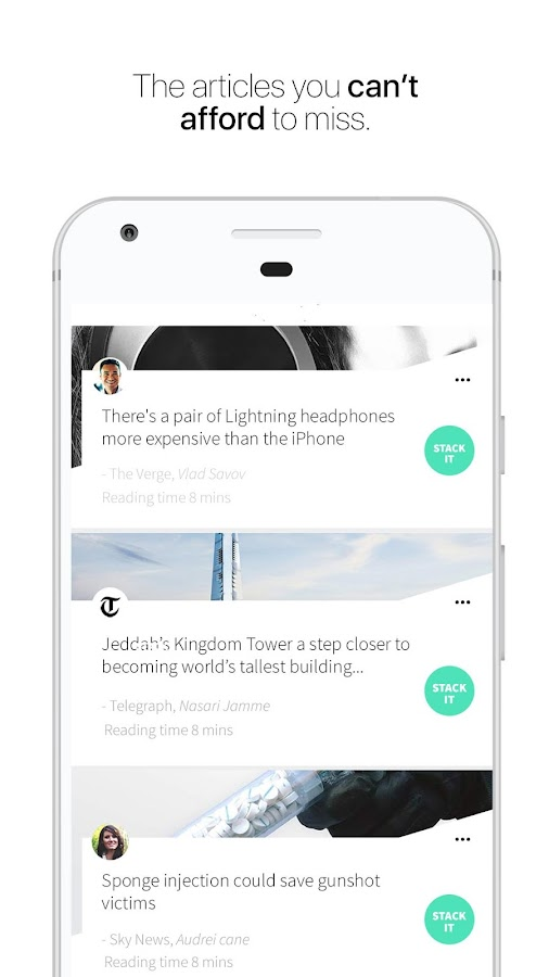 Stack: Personalized News App- screenshot