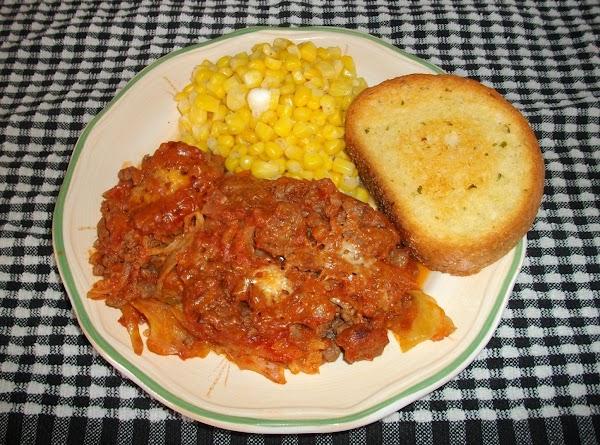 Ground Beef And Cabbage Casserole Recipe
