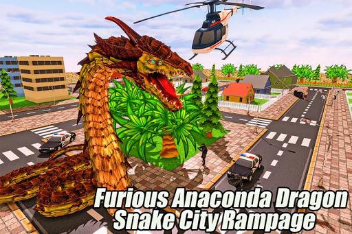 Furious Anaconda Dragon Snake City Rampage screenshot 4