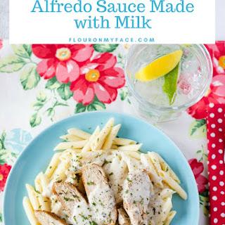 Homemade Creamy Basil Alfredo Sauce.