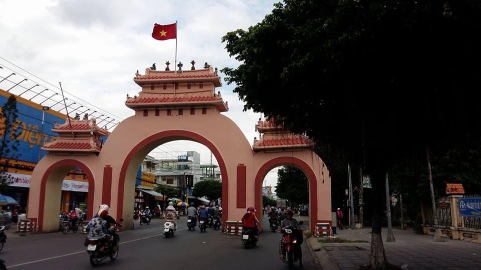 Cổng chào của thành phố Rạch Giá