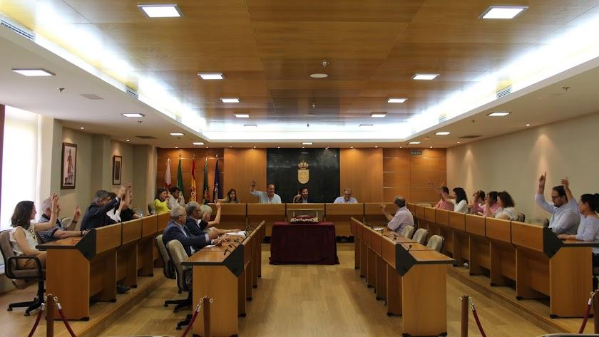 Pleno de despedida de la actual corporación celebrado hoy en El Ejido.