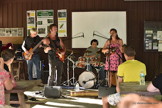 Photo: A band performing for Make Music VT at Jamaica State Park by Bill Steele