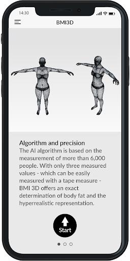 BMI 3D - Body Mass Index and body fat in 3D 5.6 Screenshots 3