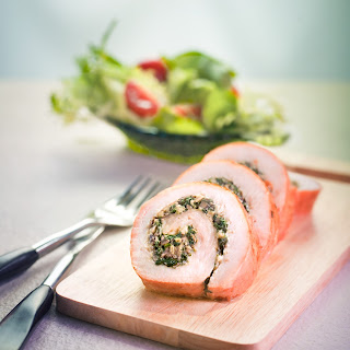 Roasted Stuffed Turkey Roll