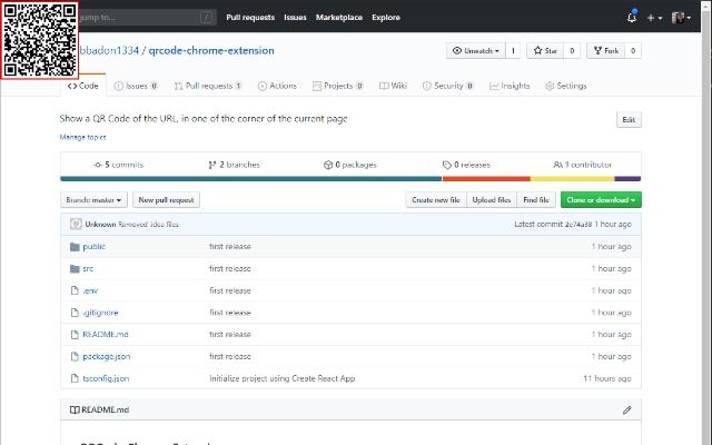 QrCode Chrome Extension