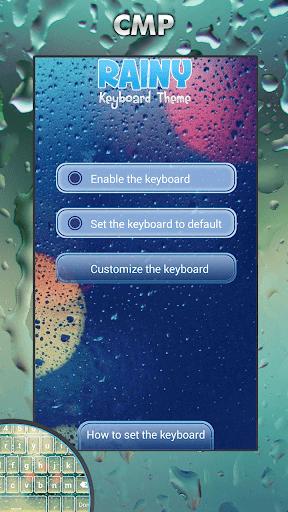 陰雨鍵盤主題