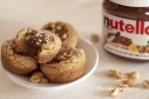 Peanut Butter, Nutella Cookie Cups