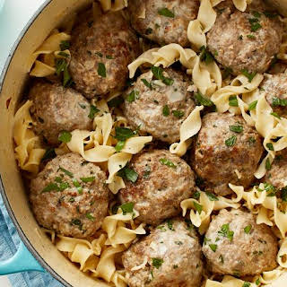One-Pot Swedish Meatballs with Egg Noodles.