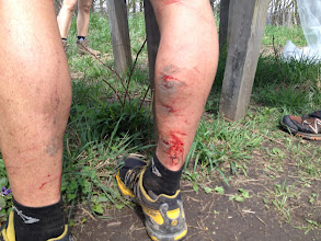 Photo: My legs after only 14 miles or so