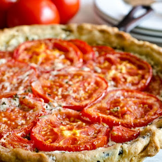 Tomato and Goat Cheese Tart with Rosemary and Mascarpone.