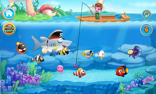 免費休閒App|男孩捕魚遊戲的女孩|阿達玩APP