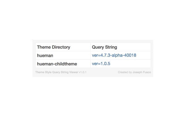 Theme Style Query String Viewer