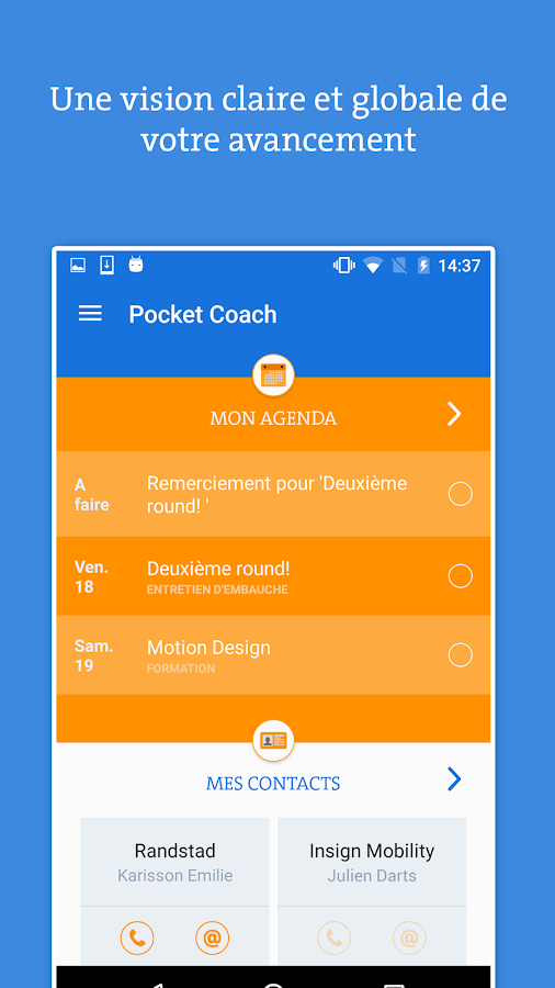 Pocket Coach- screenshot