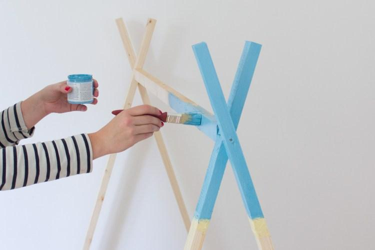 paint your tipi tent bed frame