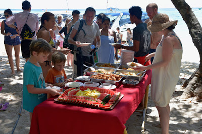 Enjoy a buffet lunch at the park ranger station on Koh Rok Nai