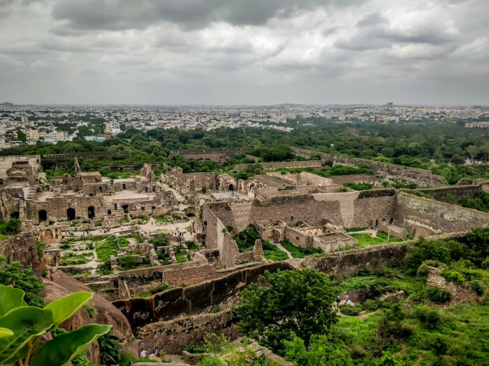 hyderabad-city-seen-from-golconda-fort must visit places to visit in hyderabad in 3 days telangana