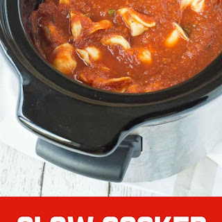 Slow Cooker Tomato Basil Soup with Tortellini