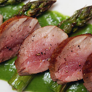WILD BOAR TENDERLOIN with ASPARAGUS SAUCE