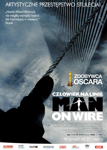 Przód ulotki filmu 'Człowiek Na Linie'