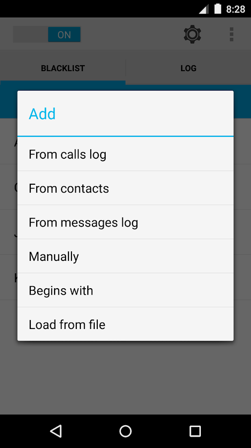 Calls Blacklist PRO - screenshot