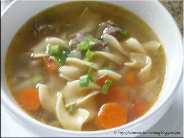Fireman Bob's Noodles And Short Ribs Soup My Way.. Recipe