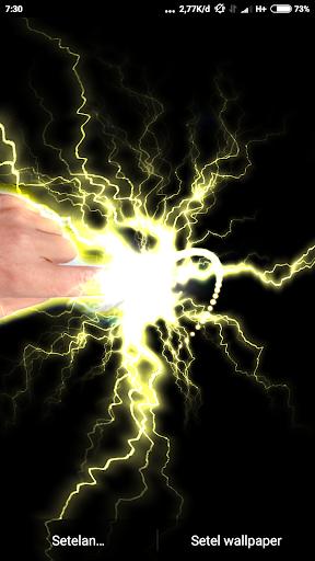 Electrical Lightning Touch Thunder Live Wallpapper screenshot 5