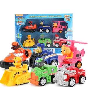 Set 6 vehicule cu frictiune - Patrula Catelusilor