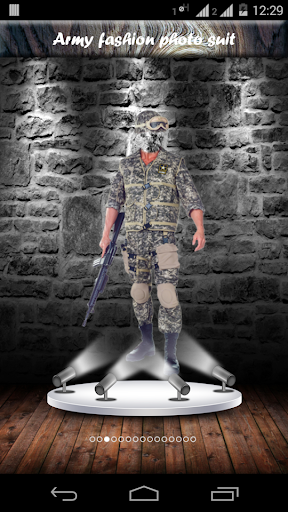 Army fashion photo suit