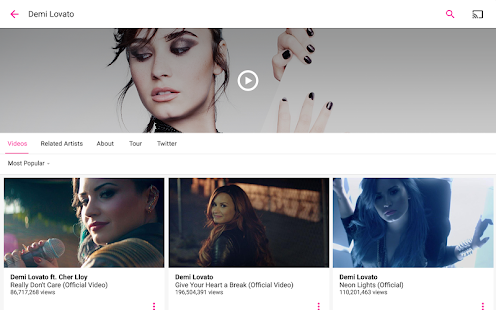 Vevo - Watch HD Music Videos- screenshot thumbnail