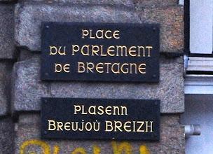 Photo: BRETANYA 2013. RENNES ( ROAZHON en bretó): Place du Parlement du Bretanya.