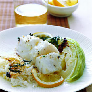 Hake Fillet with Jasmine Rice.