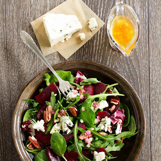 Beet and Spinach Salad with Blue Cheese Sea Salt