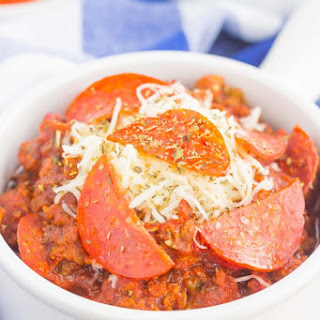Slow Cooker Pizza Chili.