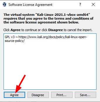 Virtual Hacking Lab - VirtualBox Software License Agreement. Source: nudesystems.com