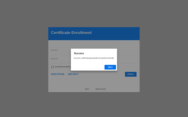 Certificate Enrollment for Chrome OS - Chrome Web Store